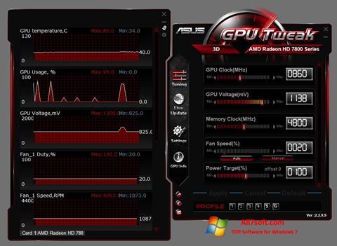 截图 ASUS GPU Tweak Windows 7