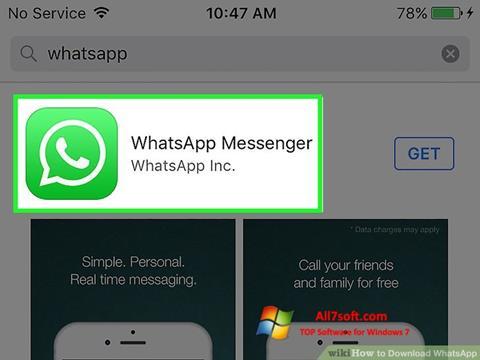 截图 WhatsApp Windows 7
