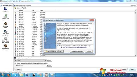 截图 BadCopy Pro Windows 7