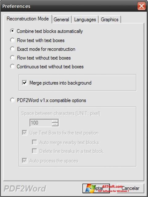 截图 PDF2Word Windows 7