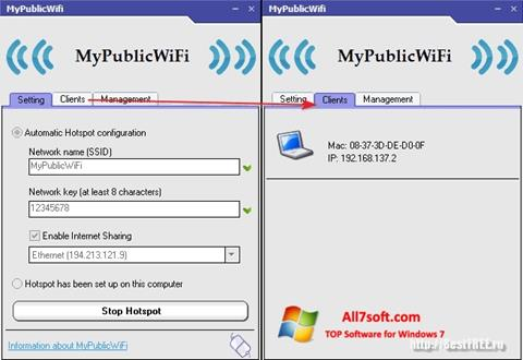 截图 MyPublicWiFi Windows 7