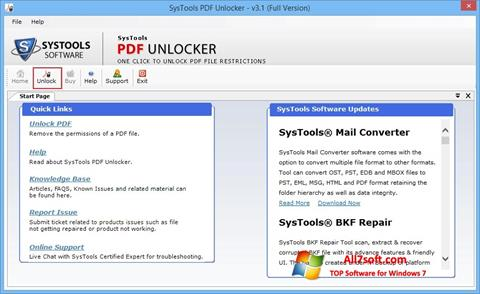 截图 PDF Unlocker Windows 7
