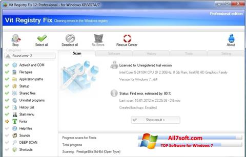 截图 Vit Registry Fix Windows 7