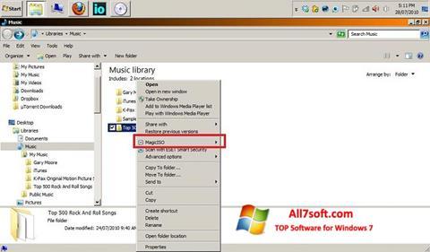 截图 MagicISO Windows 7