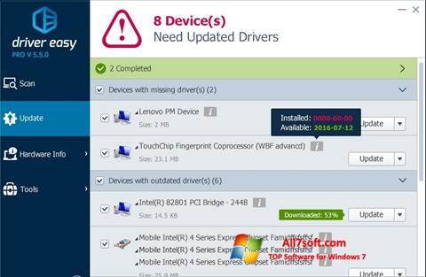 截图 Driver Easy Windows 7