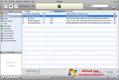 截图 iTunes Windows 7