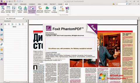 截图 Foxit Phantom Windows 7