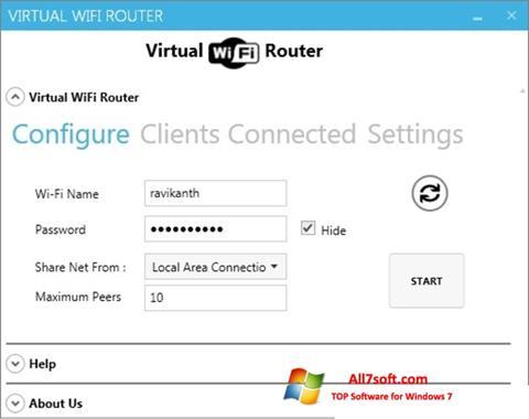 截图 Virtual WiFi Router Windows 7