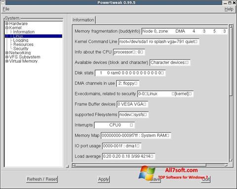 截图 PowerTweak Windows 7