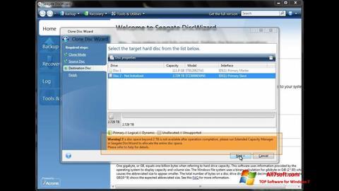 截图 Seagate DiscWizard Windows 7