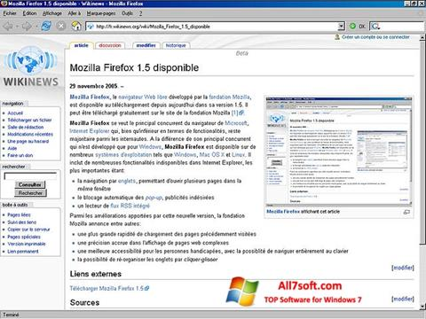 截图 Mozilla Firefox Windows 7