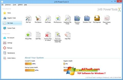 截图 jv16 PowerTools Windows 7