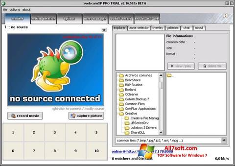 截图 webcamXP Windows 7