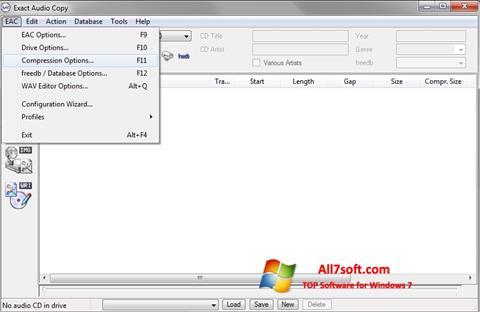 截图 Exact Audio Copy Windows 7