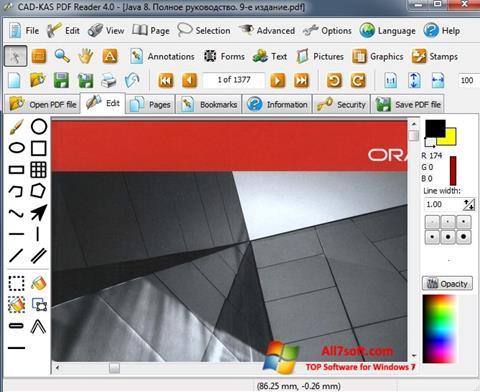 截图 PDF Reader Windows 7
