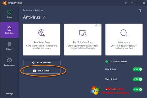 截图 Avast Windows 7