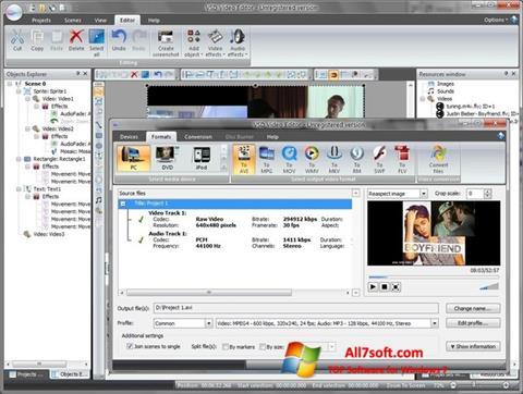 截图 Free Video Editor Windows 7