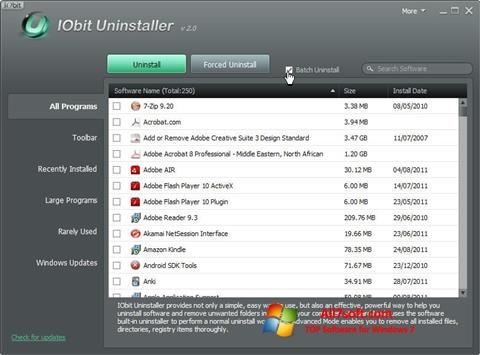 截图 IObit Uninstaller Windows 7