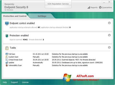截图 Kaspersky Endpoint Security Windows 7