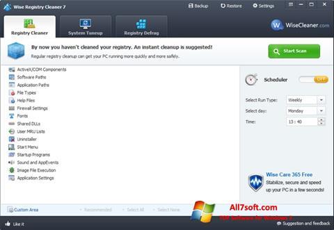 截图 Wise Registry Cleaner Windows 7