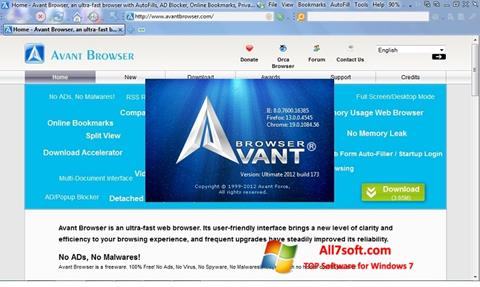 截图 Avant Browser Windows 7