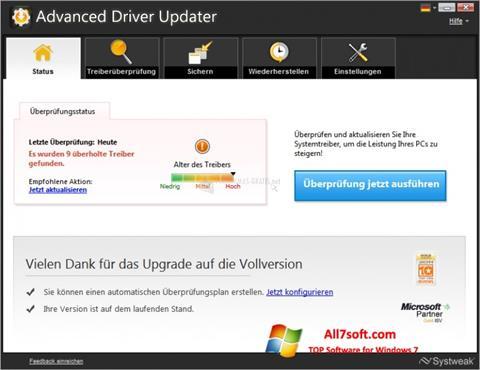 截图 Advanced Driver Updater Windows 7