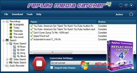 截图 Replay Media Catcher Windows 7