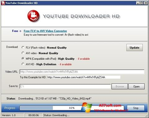 截图 Youtube Downloader HD Windows 7