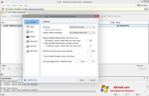 截图 GoodSync Windows 7