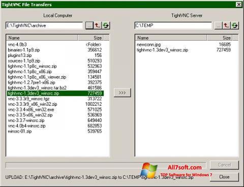 截图 TightVNC Windows 7