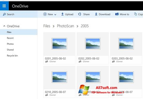 截图 OneDrive Windows 7