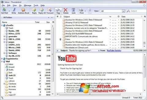截图 Mozilla Thunderbird Windows 7