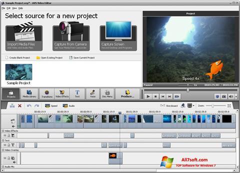 截图 AVS Video Editor Windows 7