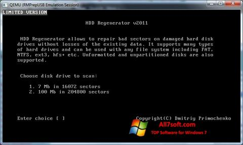 截图 HDD Regenerator Windows 7