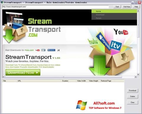 截图 StreamTransport Windows 7