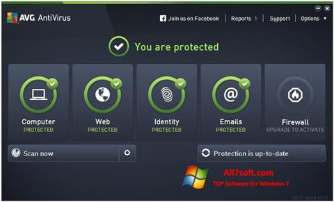 截图 AVG AntiVirus Pro Windows 7