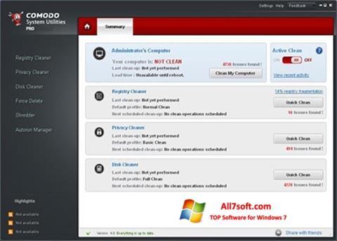 截图 Comodo System Utilities Windows 7