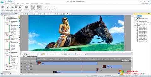 截图 VSDC Free Video Editor Windows 7